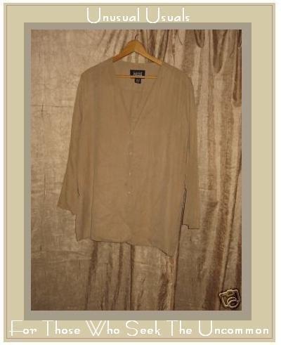 Eileen Fisher Silk Button Jacket Top Medium Large M L