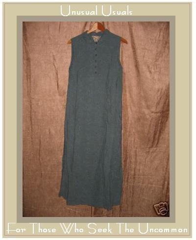 April Cornell Long Vintage Blue Floral Dress Medium M