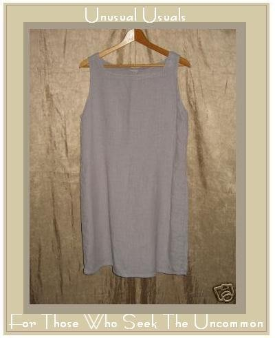 Shapely Lavender Striped Linen Cotton Dress Small S