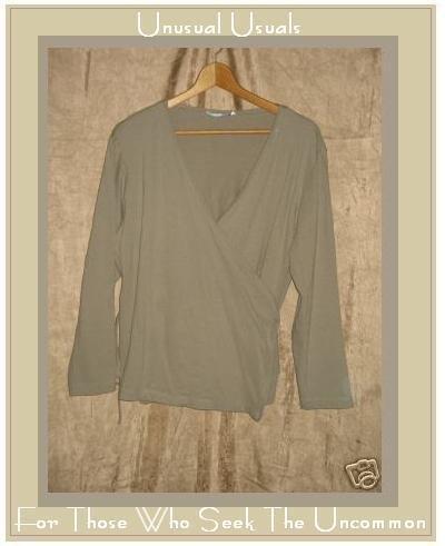 COTTON COUTURE Soft Wrap Jacket Shirt Top Medium M Large L