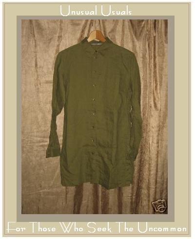 WRAP Linen Shirt FLAX Tunic Top UK 14 EUR 40/42 US 12 MEDIUM M