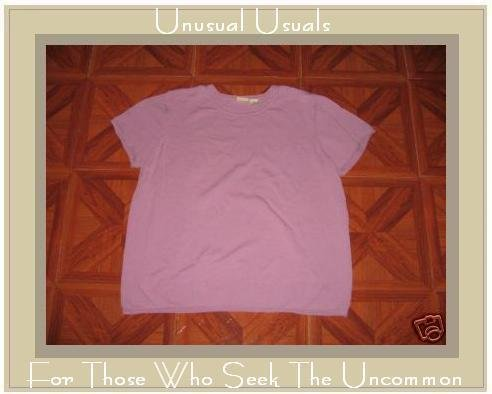 LINDEN HILL KNIT PURPLE PULLOVER SHIRT TOP X-LARGE XL