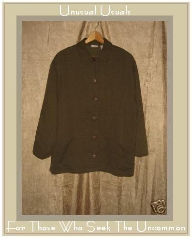 CROSSROADS Soft Earthy Olive Brown Button Jacket Medium M