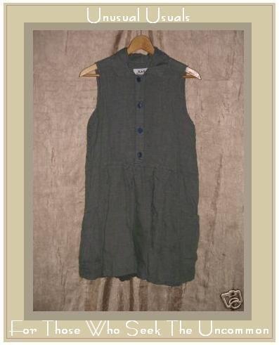 FLAX by Jeanne Engelhart Tunic Top Shirt Dress Petite P