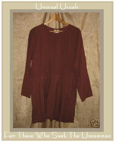 FLAX by ANGELHEART Silk Tunic Top Shirt Dress Engelhart SMALL S