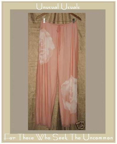 NEW CLEA Boutique Pink Lined ROSE FLOOD PANTS Small S