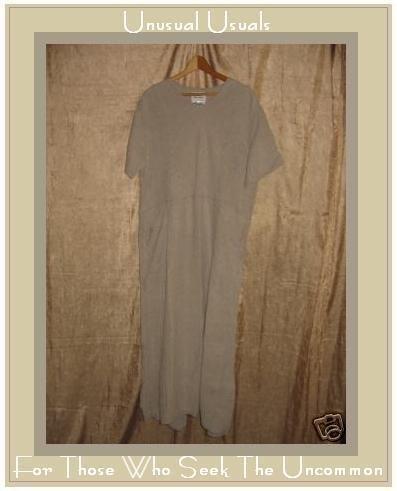 Jeanne Engelhart Flax Waffle Weave Linen Dress Medium M