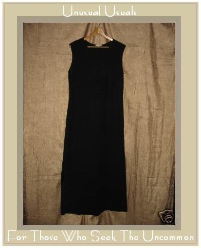 CLOTHESPIN Funky Boutique Textured Cotton Dress Black MEDIUM M