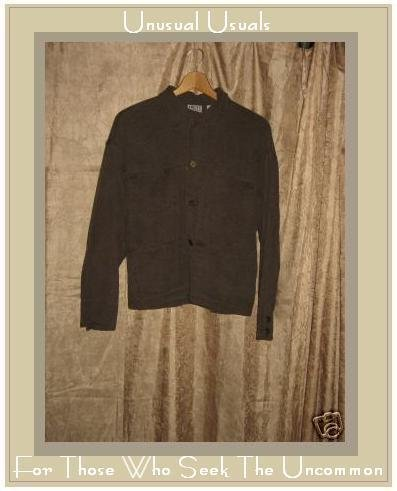 Chico's Design Heavy Brown Silk Button Jacket Size 1 SMALL S