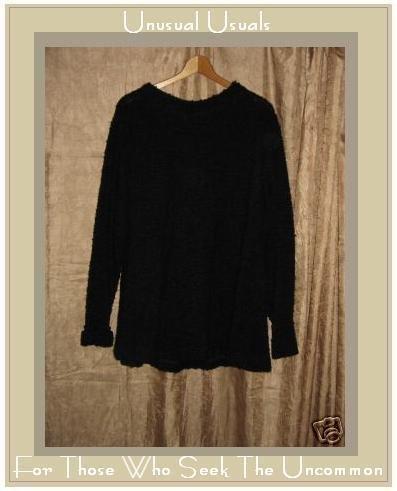 MONIKA TURTLE Black Nubby Knit SWING TUNIC SWEATER MEDIUM M