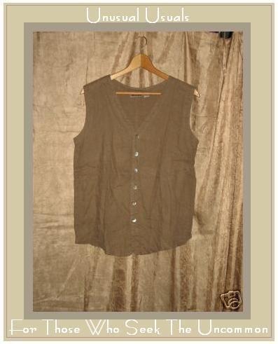Chico's Design soft brown linen button shirt Size 1 Small S Medium M
