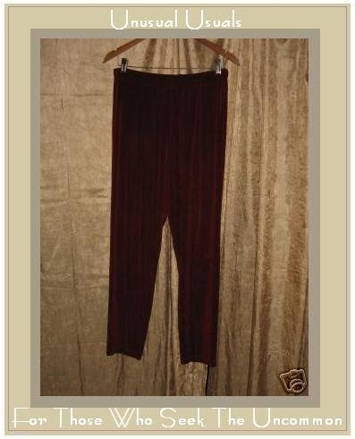 Flax by Jeanne Engelhart Acetate Lycra Travel Pants Large L