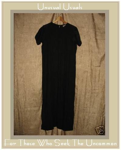BOWMAN New York Long BLACK LINEN Pullover Dress Small S