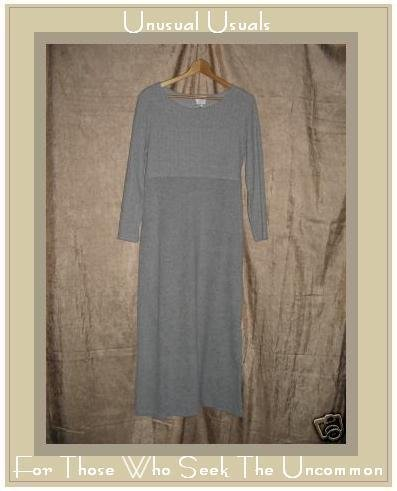 VISION Apparel Long Soft Gray Nubby Knit Dress Small S