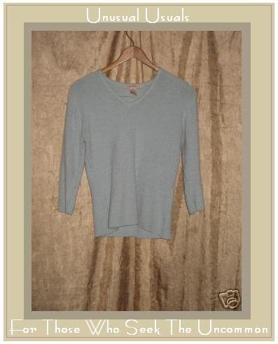 FREE PEOPLE Blue French Terry Shirt Pullover Top Medium M