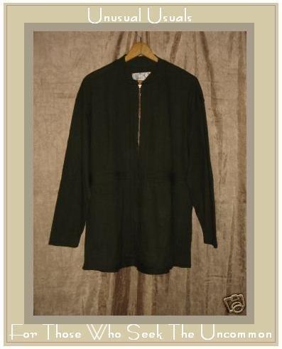 ANGELHEART DESIGNS Wool shapely jacket zipper coat Small S