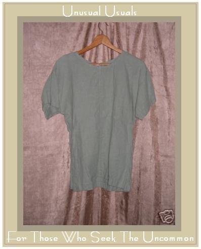 ZACK Linen Shapely Tunic Top Pullover Shirt Medium M