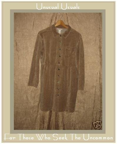 J. Jill Soft Brown Cotton Velour Dress Large Petite LP