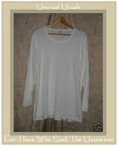 J. Jill Cream Cotton Knit Pullover Shirt Tunic Top 1X
