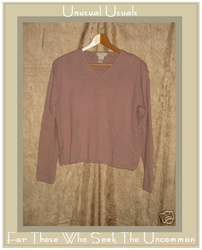J. JILL Muted Pink Cotton Pullover Sweater Shirt Top SP Small Petite