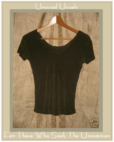 FLAX by JEANNE ENGELHART Slinky Green Acetate Shirt Top Small
