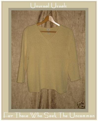 J. JILL Yellow Silk Pullover Sweater Shirt Medium Petite MP