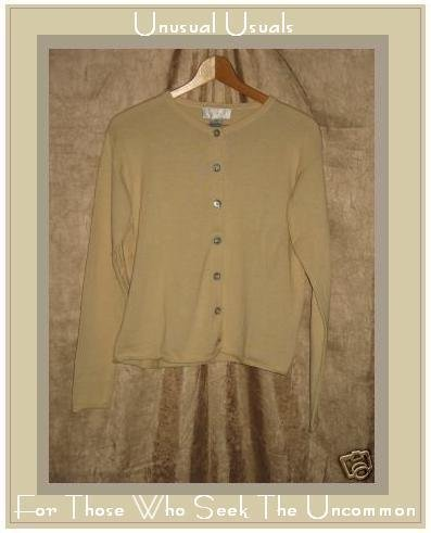 J. Jill Cream Cotton Button Cardigan Sweater X-Small XS