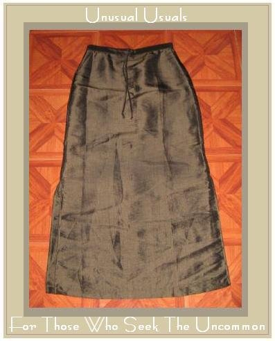 ONE CLOTHING IRRIDESCENT GREEN DRAWSTRING SKIRT LARGE L