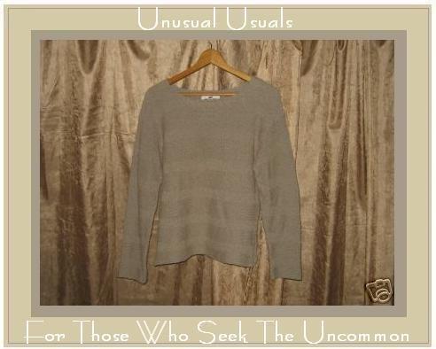 FLAX By Angelheart Sage Sweater Jeanne Engelhart Medium Large M L