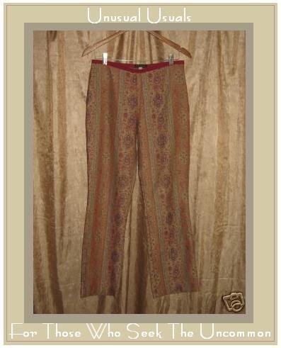 FUNKY BOHO BOUTIQUE ANTHROPOLOGIE TAPESTRY PANTS SIZE 6