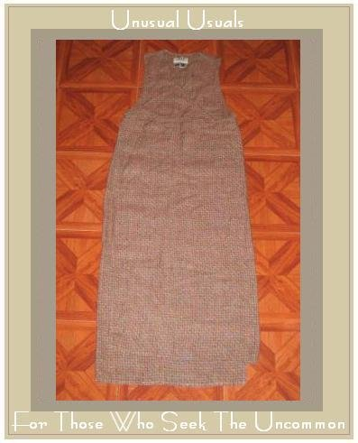 FLAX BASKET WEAVE ASSYMETRIC DIAGONAL DRESS ENGELHART PETITE P