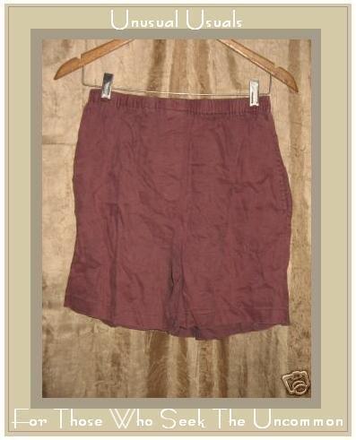 Cute J. JILL Muted Berry LINEN Shorts Size Small S