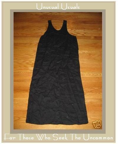 FLAX BLACK BUTTON DRESS BY JEANNE ENGELHART PETITE P