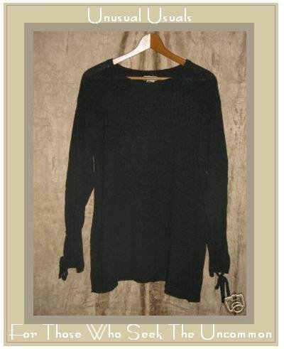 NEESH by DAR Soft Long Gray Tunic Sweater with Ties Small S Medium M