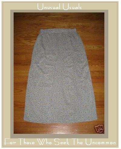 FLAX PATTERNED RAYON BUBBLE SKIRT BY JEANNE ENGELHART MEDIUM M