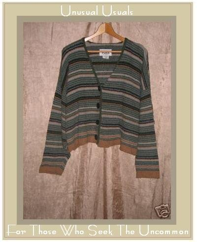 Flax by Angelheart Striped Sweater Jeanne Engelhart Small Medium S M
