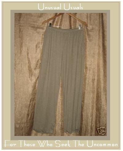 CLOTHESPIN Boutique Taupe Rayon Knit Flood Pants Small S