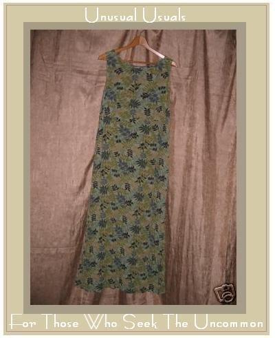 PUTUMAYO Travelers Leafy Green Drawstring Waist Dress Medium M