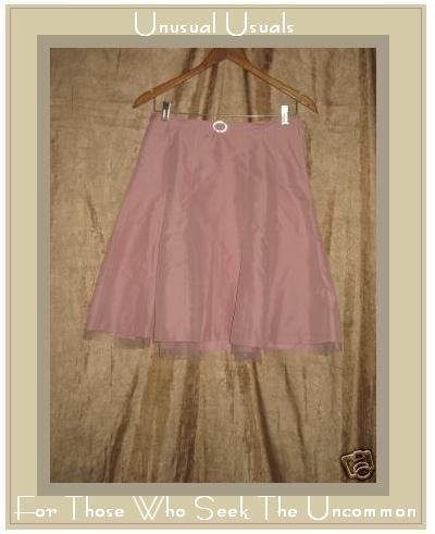Hennes Pink Belted Tulle Ruffle Knee SKIRT SZ 6 EUR 36 Small S