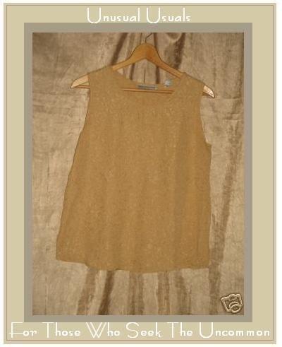 Valerie Stevens Petite Silk Shell Tank Shirt Top 10P Medium Petite M P