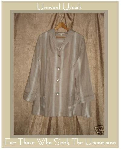 CLOTHESPIN Long Shapely Linen Swing Coat Jacket Top Medium M