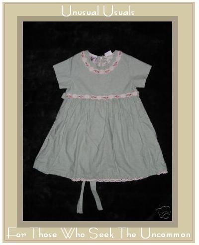Good Lad of Philadelphia Linen Floral Trim Dress 2T EUC
