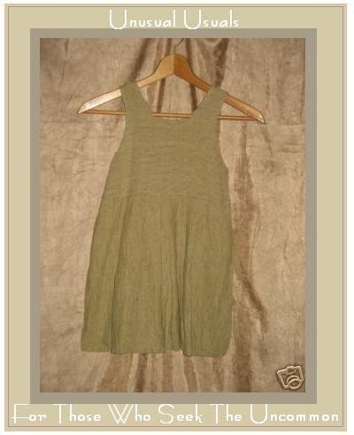FLAXseeds By Angelheart Engelhart LINEN Dress XS FLAX