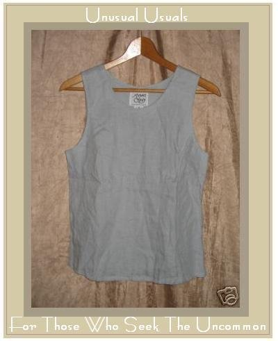 Margaret O'Leary Irish Linen Shapely SLVLS Shirt Top Small S