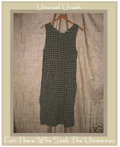 PUTUMAYO Long Cappuccino Plaid Box Pleated Dress Small S