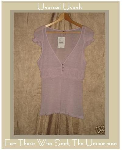 NEW FREE PEOPLE Pale Purple Ballet Sweater Shirt Top Medium M