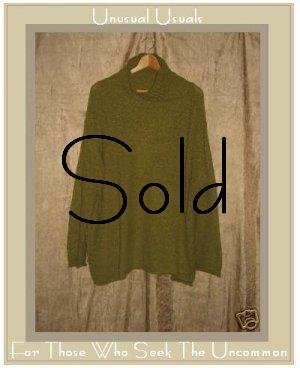 PASHOOT New York Cozy Green Pullover Sweater One Size