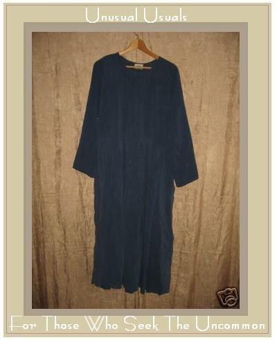 FLAX by Angelheart Blue SILK DRESS Jeanne Engelhart Small S