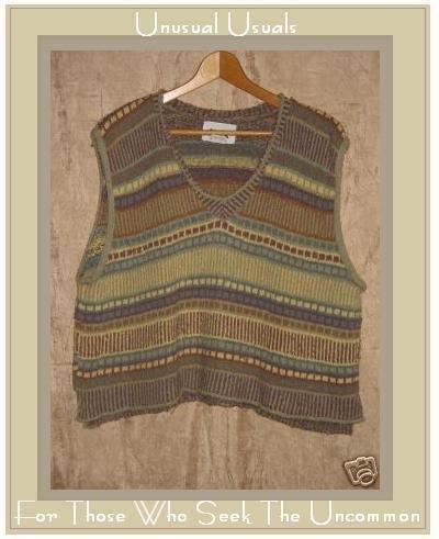 Flax by Angelheart Mosaic Sweater Jeanne Engelhart Medium Large M L