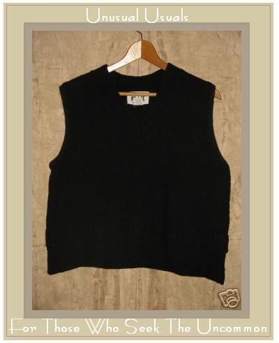 FLAX by ANGELHEART Black Wool Sweater Jeanne Engelhart Medium Large M L